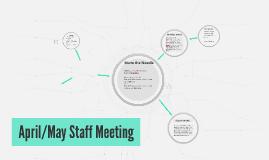 April Staff Meeting