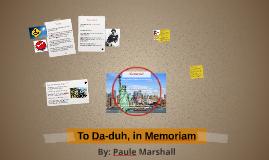 To Da-duh, in Memoriam