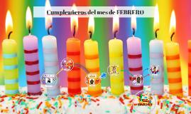 Copy of Cumpleañeros del mes de ENERO