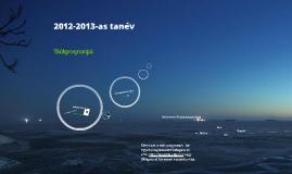 2012-2013 éves munkaterv