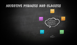 Adjective Phrases and Clauses