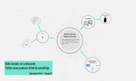 Redes Sociales en la Educación: Twitter como escenario virtual de aprendizaje