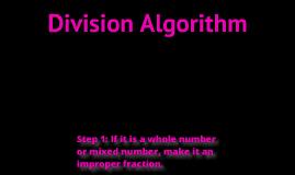 Divsion Algorithm