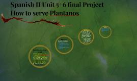 Spanish II Unit 5+6 final Project