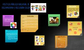 POLÍTICA PÚBLICA NACIONAL DE DISCAPACIDAD E INCLUSIÓN