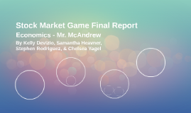 Stock Market Game Final Report