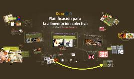Planificación de la alimentación colectiva