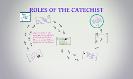 ROLES OF THE CATECHIST