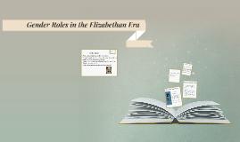 Gender Roles in the Elizabethan