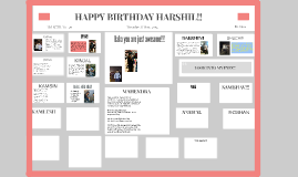 HAPPY BIRTHDAY HARSHIL!!