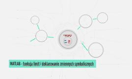 MATLAB -funkcja limit i deklarowanie zmiennych