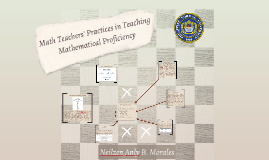 Math Teachers' Practices in Teaching Mathematical Proficienc
