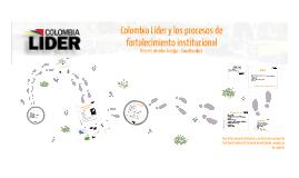 Colombia Líder y los procesos de fortalecimiento institucional.