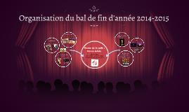 Organisation du bal de fin d'année 2014-2015