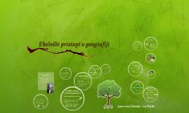 Ekološki pristupi u geografiji