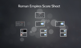 Roman Empires Score Sheet