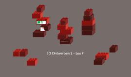 3D Ontwerpen 2 - Blok 4 - Les 7