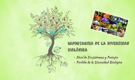 Importancia de la Diversidad biologica