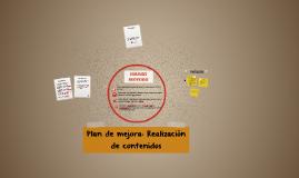 Plan de mejora: Edición de imágen