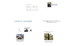 Lemon V. Kurtzman
