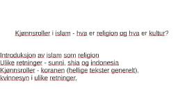 Kjønnsroller i islam - hva er religion o.