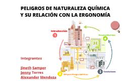 PELIGROS DE NATURALEZA QUÍMICA  Y SU RELACIÓN CON LA ERGONOMÍA