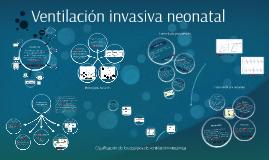 Ventilación invasiva neonatal