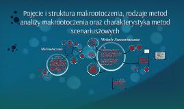 Pojęcie i struktura makrootoczenia, rodzaje metod analizy ma
