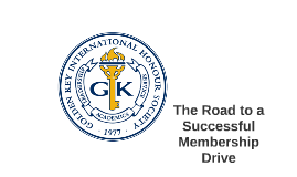 The Road to a Successful Membership Drive