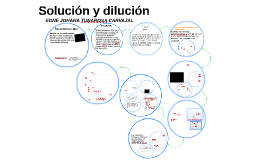Solución y dilución