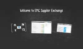 Welcome to Supplier Exchange