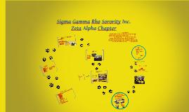 Sigma Gamma Rho Sorority Inc.,