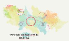 variables linguisticas de colombia.