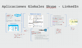 Aplicaciones Globales Skype - LinkedIn
