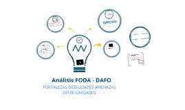 ANALISIS FODA - DAFO
