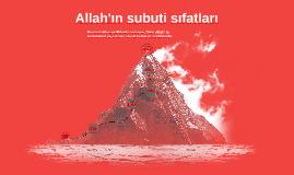 Allah'ın Subuti Sıfatları