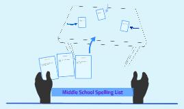 Middle School Spelling List