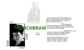 'Quickdraw' by Carol Ann Duffy