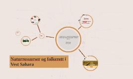 Naturressurser og folkerett i Vest Sahara