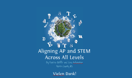 Aligning AP and STEM across all Levels