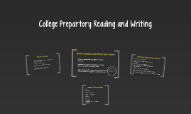 College Prepartory Reading and Writing