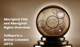 Aboriginal Title and Aboriginal Rights Overview:
