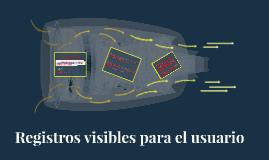 Organización del procesador y registros visibles para el usuario