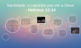 Santidade, o caminho pra ver a Deus - Hebreus 12:14