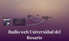 Radio web Universidad del Rosario