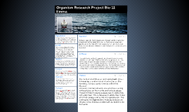 Organism Research Project Bio 11