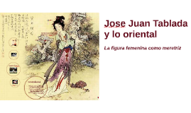 Lo oriental en Jose Juan Tablada