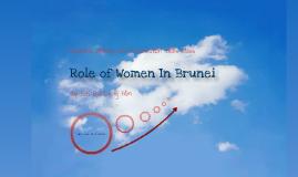 Role of Women In Brunei