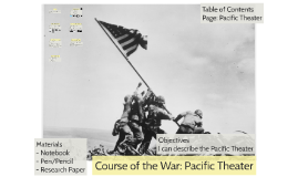 Course of the War: Pacific Theater