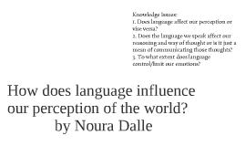 how does language affect perception essay